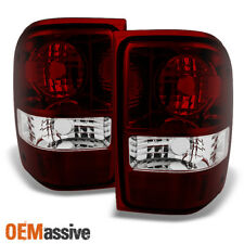 Fit 01-11 Ford Ranger Pickup Dark Red Lens Tail Lights Replacement