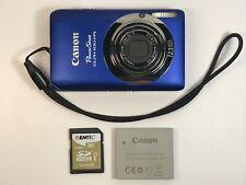 Canon PowerShot ELPH 100 HS 12.1MP Digital Camera Metallic Blue + 16GB SD Card
