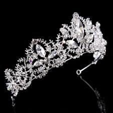 Boda Nupcial Dama de honor Baile de Diamantes de Imitación Tiara Corona