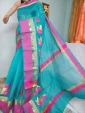 Indian Banarasi Mango Boota Soft Cotton Saree with Contrast Pallu Wedding Sari