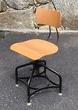 Vintage Modern Toledo Metal Furniture Co. Swivel Art / Drafting Stool
