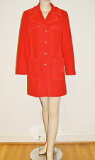 Vintage 60's 70's Mod Orange Light Weight Coat by Betty Rose - Size M/L