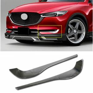 Chrome Front Fog Light Lamp Eyebrow Eyelid Trim Cover Fits 2017-2021 Mazda CX-5