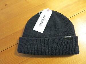 "Mens / Unisex Nixon Navy ""Fisherman's"" Beanie Hat - Small / Medium"