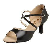 """Capezio Women's Eva 2"""" Social Dance Shoe, Black, 7.5 W US"""