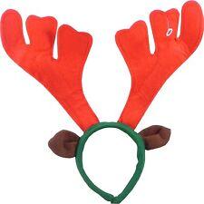 Rudolf The Reindeer Christmas Antler Fancy Dress Headband With Ears