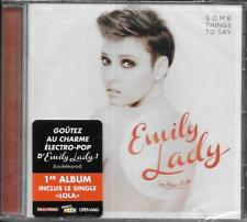 CD 12 TITRES EMILY LADY SOME THINGS TO SAY DE 2013 NEUF SCELLE