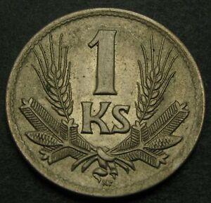 SLOVAKIA 1 Koruna 1945 - Copper/Nickel - XF - 2527MP