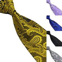 EG_ Men's Neck Tie Silk Necktie Jacquard Woven Floral Paisley Wedding Party Ties