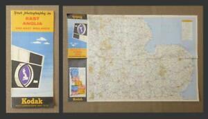 1960's KODAK PHOTOGRAPHY LOCATIONS MAP - No.4: East Anglia & East Midlands