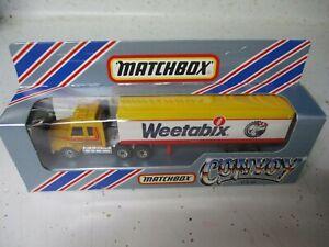 "Matchbox Macau Convoy CY-16 Scania Box Truck- ""Weetabix"", boxed"