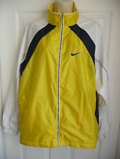 NIKE Ladies Jacket XL XLarge Bright Yellow Blue White Full Zip Lightweight NICE