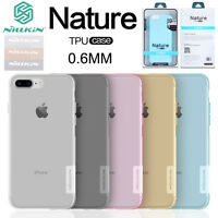 100% NILLKIN 0.6mm Nature Silicone Soft TPU Case For iPhone XS MAX XR X 8 7 6S