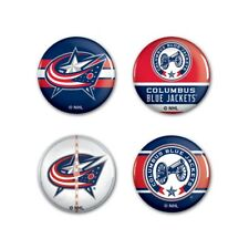 "COLUMBUS BLUE JACKETS CANON LOGO BUTTONS 4 PACK SET 1.75""  BRAND NEW WINCRAFT"