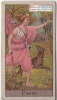 Diana Ancient Roman Goddess Keeper Of Hunt Moon Nature Mythology 1920s Ad Card