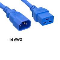 C2G//10345 14AWG 250 Volt Power Cord Black 4 Feet IEC C14 to IEC320 C19