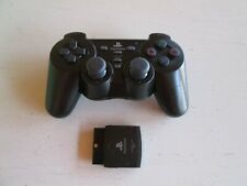 Sony PlayStation 2 PS2 Wireless ForceLink Katana Controller w/ Dongle -- Black.