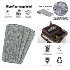 4PCS Silver Microfiber Mop Pads Head Wet Dry Mops Refill For Flat Mop Base