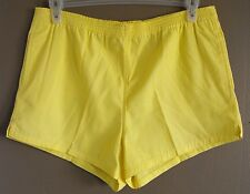 Vtg Yellow Carreau Sport Tennis Shorts Size L 14 70's