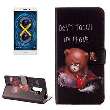 Schutzhülle Muster 71 für Huawei Honor 6X Bookcover Tasche Case Hülle Wallet Etu