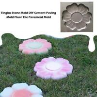 Flower Stepping Stone Mold pavement mold Concrete Cement Mould