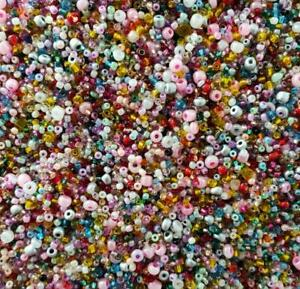20g 2-4mm Czech Glass Seed Spacer beads Jewelry Making DIY Craft Mixed Color