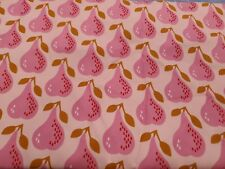 New listing 1 1/2 yd Tropical Pineapple Cotton Corduroy Pin Wale