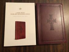 ESV Large Print Thinline Reference Bible - $54.99 Retail -Burgundy Cross Trutone