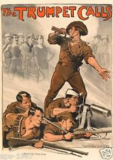 WW1 World War 1 propaganda Australia - Large poster 1914-2018 The Trumpet Calls