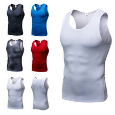 Men's Elastic Quick Dry Tank Tops Fitness Running 3D Printing Athletic Vest