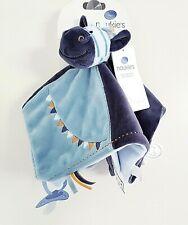 Doudou Noukies Noukie's Tidou Plat Zebrito L'ane Plat Bleu Zèbre cheval NEUF