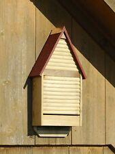 "Bat Houses - ""Brixton"" Bat House - Natural Finish - Redwood Roof - Garden Decor"