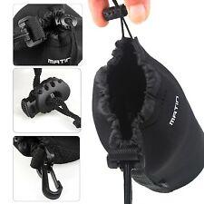 Neoprene Matin Soft DSLR Camera Lens Bag Pouch - Small