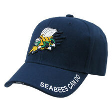 Blue US Navy Seabees Construction United States USN Baseball Cap Hat Caps Hats