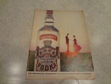 """1960 Smirnoff Vodka Vintage Magazine Ad """"The Breathless Ingredient"""""""