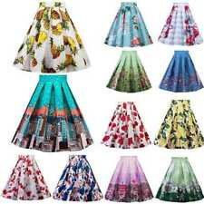 Summer Skirt Vintage Rockabilly 50s Casual Party Pinup Short Floral Swing Dress