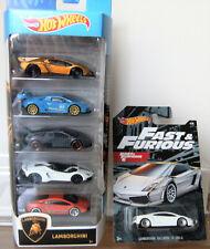 Hotwheels Lamborghini 5 Pack + Gallardo LP560-4 Fast & Furious Lamborghini Set