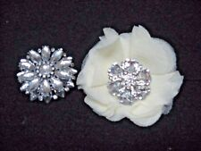 Lot 2 gorgeous fashion brooch/ pins/ clips exquisite crystals FLOWERS