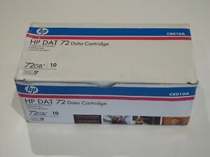 Box of 10 x HP DAT72 DAT Data Tapes/Cartridges 4mm 36/72GB C8010A
