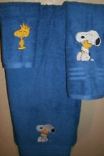 Snoopy Woodstock Personalized 3 Piece Bath Towel Set Any Color Choice