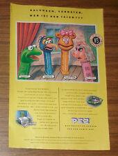 Seltene Werbung PEZ Muppet Show Kermit Miss Piggy Gonzo Fossie-Bär 1991