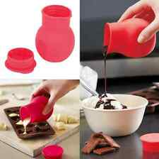 Silicone Chocolate Melting Pot Mould Butter Sauce Milk Pour Bottle Container US
