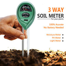 3 In 1 Soil Tester Meter Lawn Plant Pot for Garden MOISTURE LIGHT PH Sensor Tool