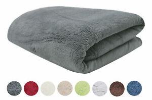Kuscheldecke | Fleece-Decke | Wolldecke XXL 150x200 oder 220x240 cm