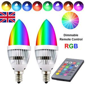 1-10PCs RGB LED Bulb E12 E14 3W 16 Color Changing Remote Control Home Xmas Party