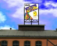Animated Billboard Sign m&m's  for rooftop building sides roadsid HO N OO
