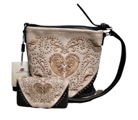 Montana West Embroidery Purse Matching Wallet Country Western Crossbody Bag