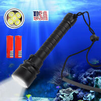 90000lm Diving Led Flashlight Torch 5*T6 Scuba Dive Torch UnderWater Lantern