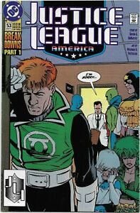 Justice League America (1989) #53 - VF/NM - Break Downs - Direct Edition