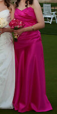 Dessy Collection Women Pink Long Prom Dress Gown Evening Bridesmaid  Maxi 10